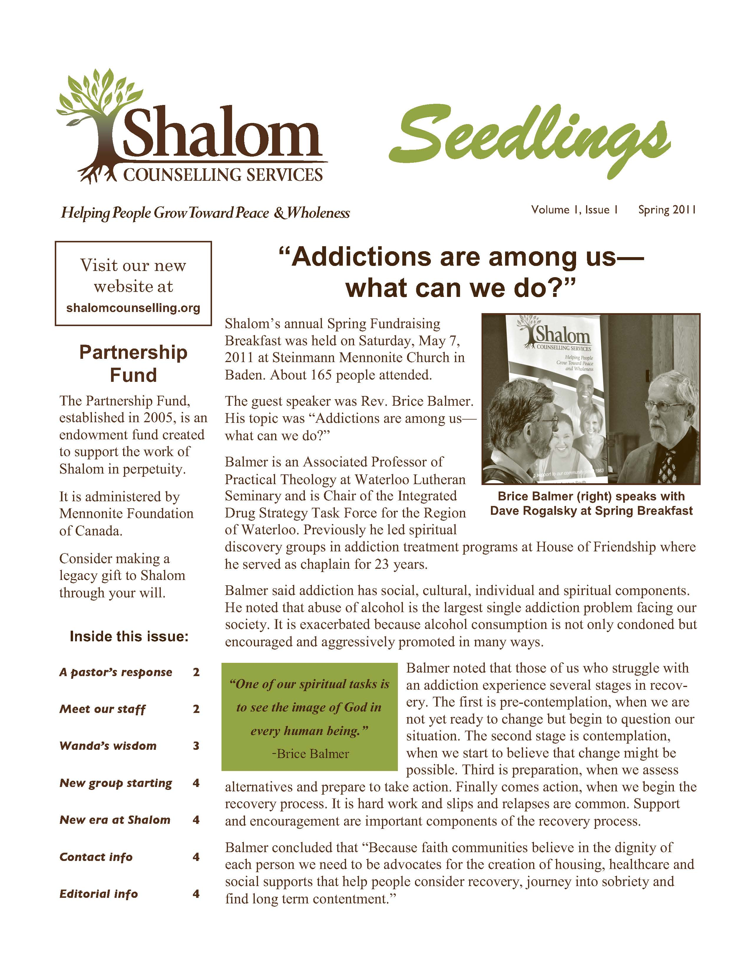 Spring 2011 Seedlings Newsletter