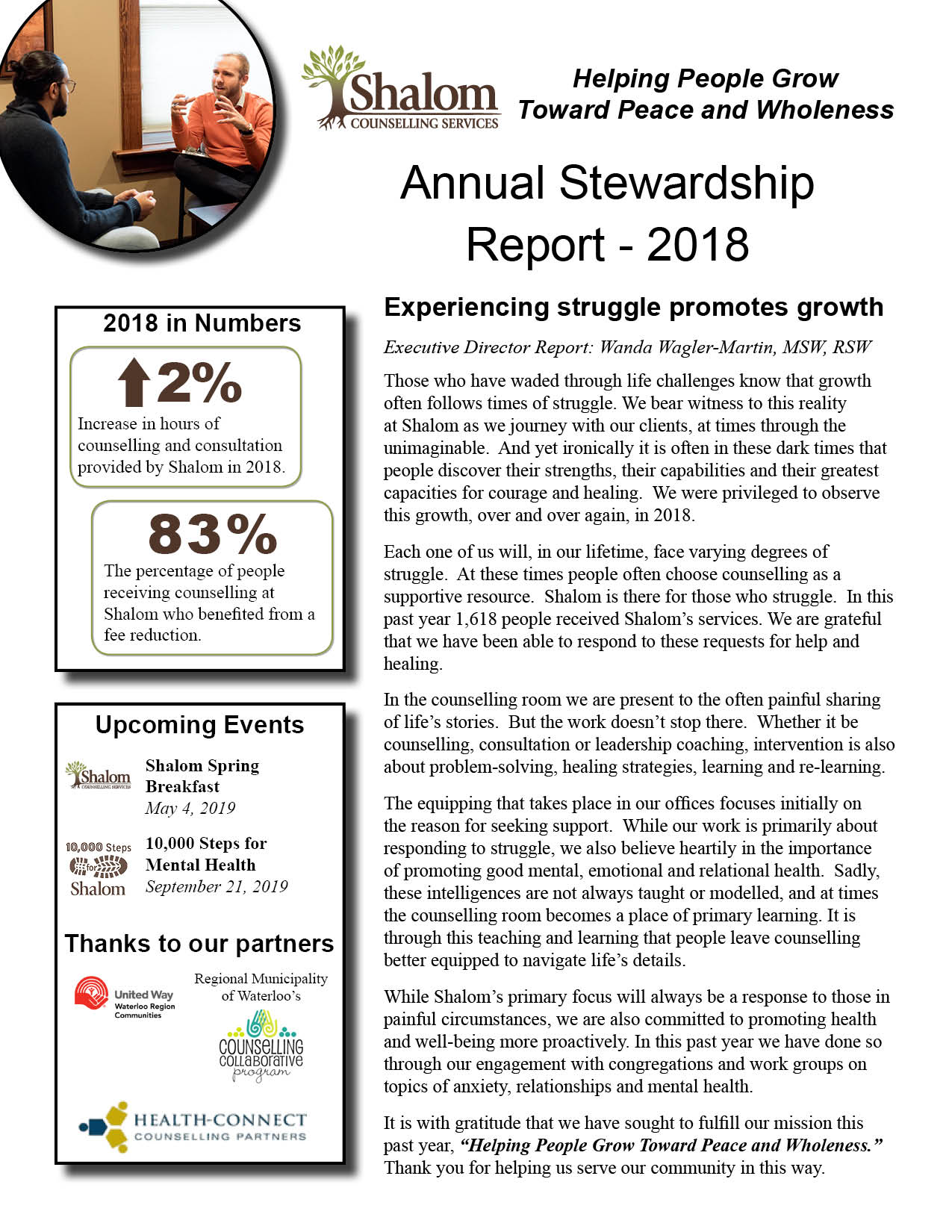 Annual Stewardship Report - 2018